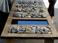 Many Stones for Palestine - installation by Gita Hashemi